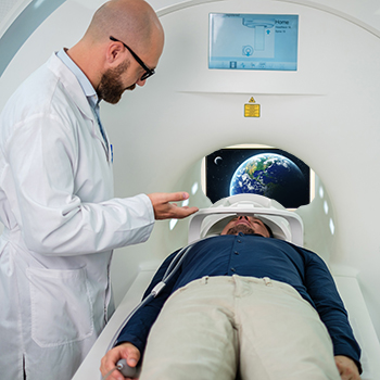 MRI Entertainment display thru scanner 350